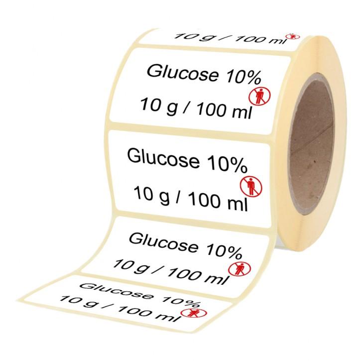 Glucose 10 %  10 g / 100 ml - Etiketten für Stechampullen