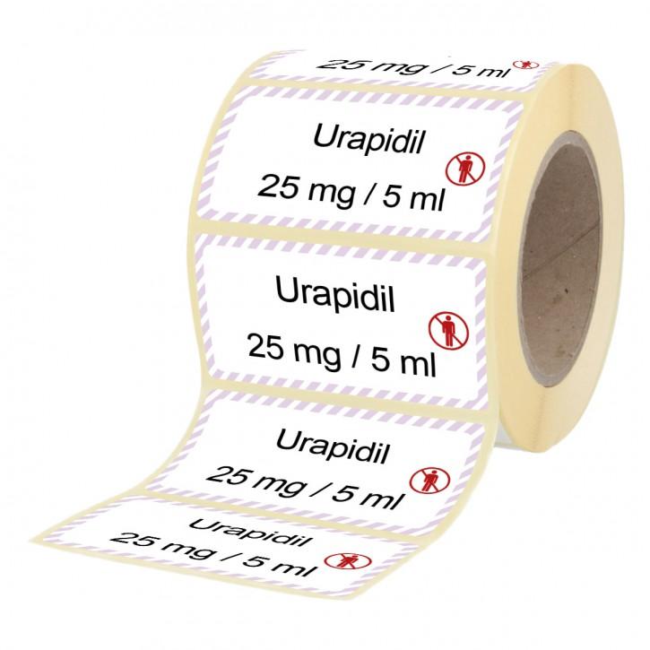 Urapidil  25 mg / 5 ml - Etiketten für Brechampullen
