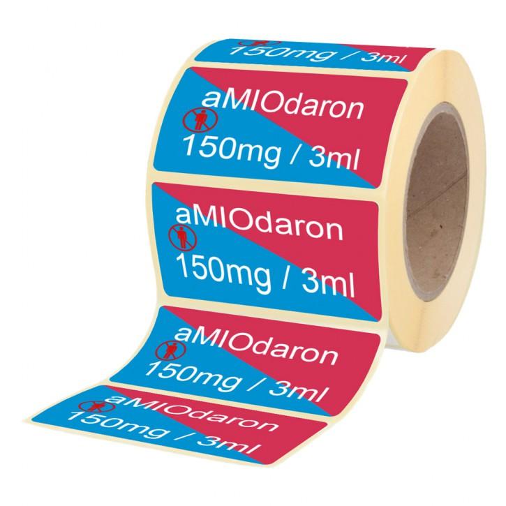 Amiodaron 150 mg / 3 ml - Etiketten für Brechampullen