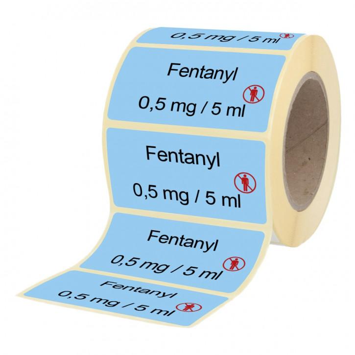 Fentanyl 0,5 mg / 5 ml - Etiketten für Brechampullen