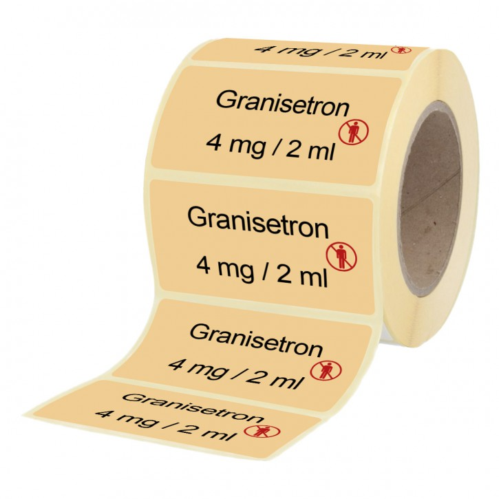 Granisetron 4 mg / 2 ml - Etiketten für Brechampullen