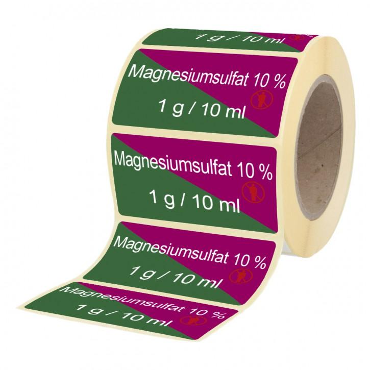 Magnesiumsulfat 10%  1 mg / 10 ml - Etiketten für Brechampullen