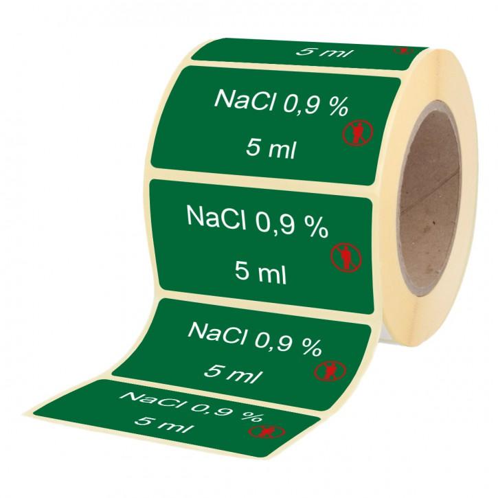 NaCl 0,9 % 5 ml - Etiketten für Brechampullen