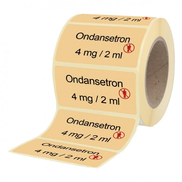 Ondansetron 4 mg / 2 ml - Etiketten für Brechampullen