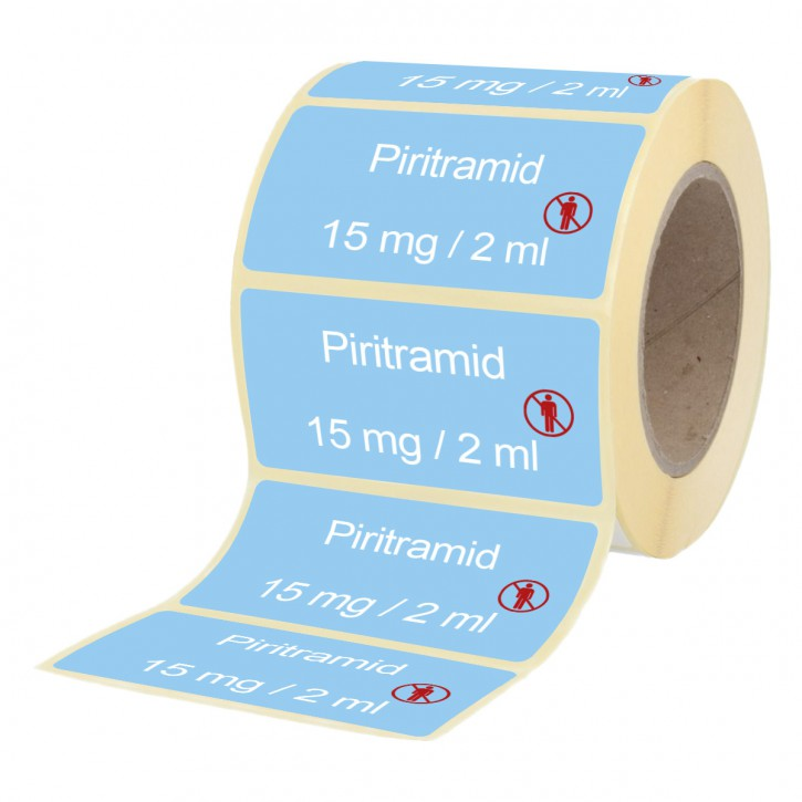 Piritramid  15 mg / 2 ml - Etiketten für Brechampullen