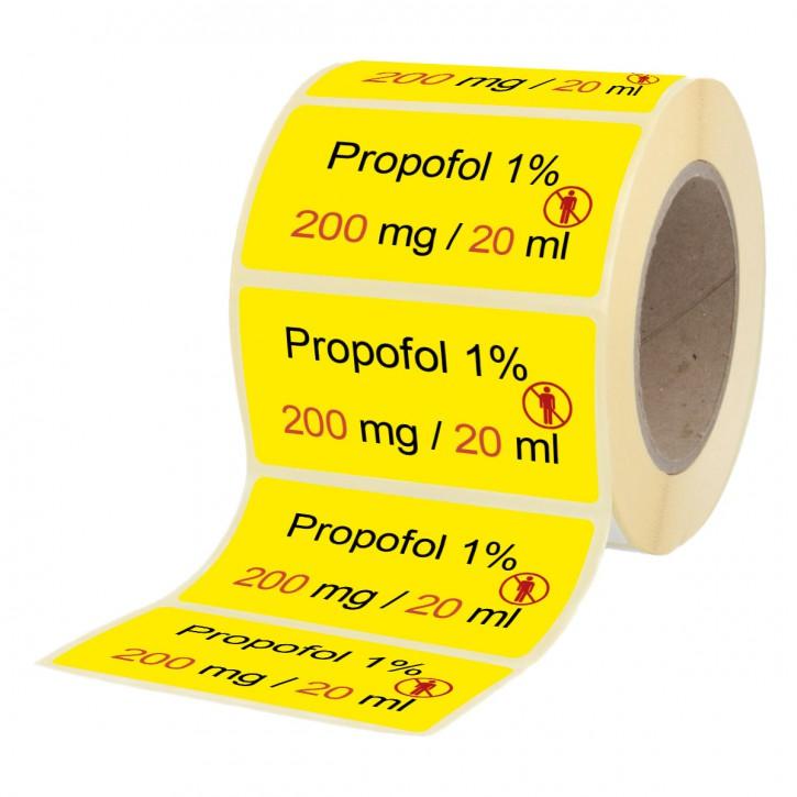 Propofol 1% - 200m g/ 20 ml - Etiketten für Brechampullen