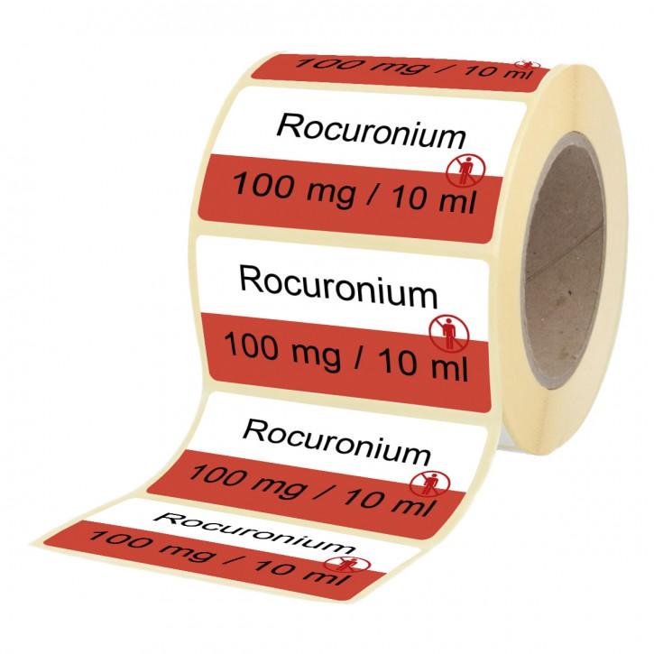 Rocuronium 100 mg / 10 ml - Etiketten für Stechampullen