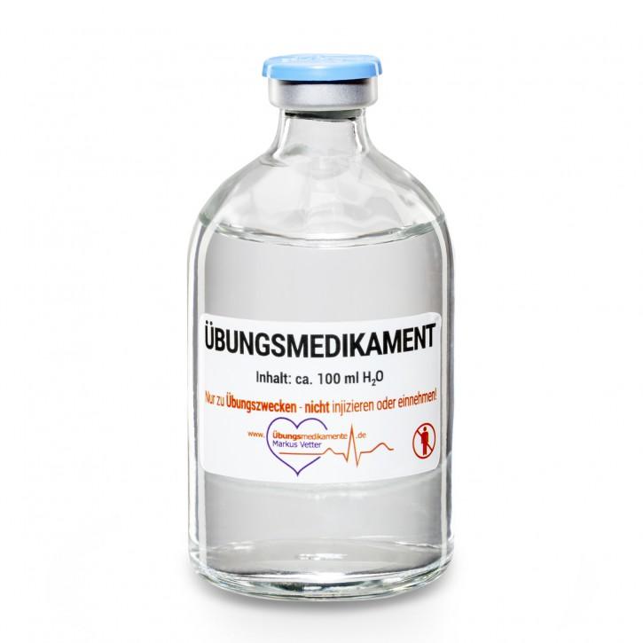 Stechampulle 100 ml H<sub>2</sub>O  Flip-off / 21 Stück